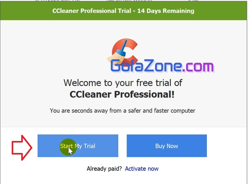 Trial CCleaner